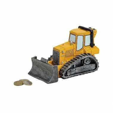 Bulldozer spaarpot 17 cm