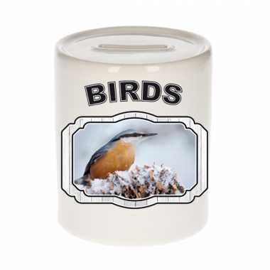 Dieren boomklever vogel spaarpot - birds/ vogels spaarpotten kinderen 9 cm
