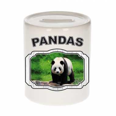 Dieren grote panda spaarpot - pandas/ pandaberen spaarpotten kinderen 9 cm