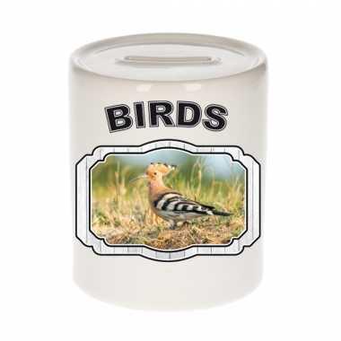 Dieren hop vogel spaarpot - birds/ vogels spaarpotten kinderen 9 cm