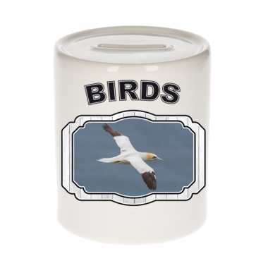 Dieren jan van gent vogel spaarpot - birds/ vogels spaarpotten kinderen 9 cm