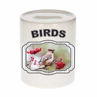 Dieren pestvogel spaarpot - birds/ vogels spaarpotten kinderen 9 cm