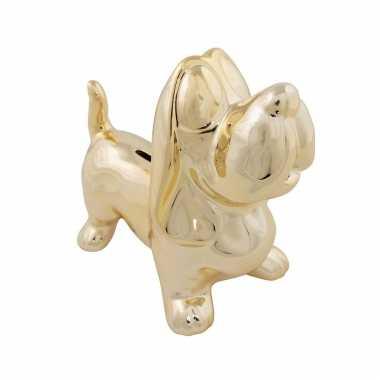 Dieren spaarpot gouden teckel hond 20,5 cm