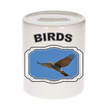 Dieren vliegende havik roofvogel spaarpot - birds/ vogels spaarpotten kinderen 9 cm