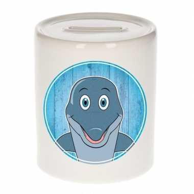 Dolfijnen spaarpot voor kinderen 9 cm