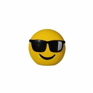 Emoticon cool spaarpot 13 cm