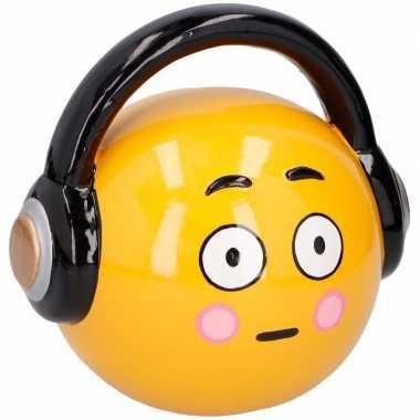 Emoticon headphone spaarpot