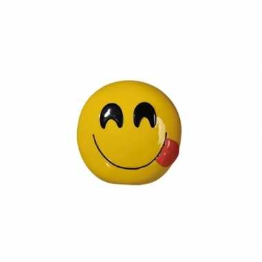Emoticon smile tong spaarpot 13 cm