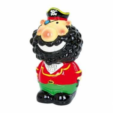 Kapitein Zwartbaard spaarpot 14 cm