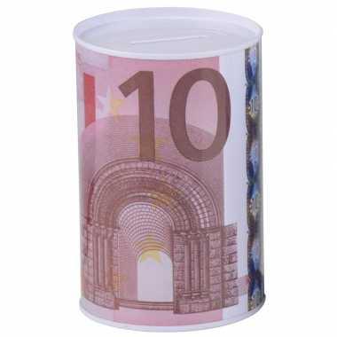 Kinder spaarpot 10 euro biljet 8 x 11 cm