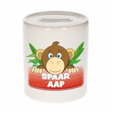 Kinder spaarpot met apen print 9 cm