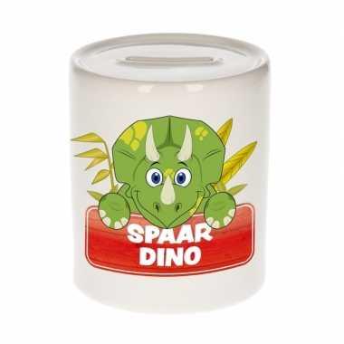 Kinder spaarpot met dinosaurus print 9 cm