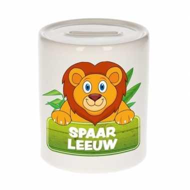 Kinder spaarpot met leeuwen print 9 cm