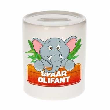 Kinder spaarpot met olifanten print 9 cm