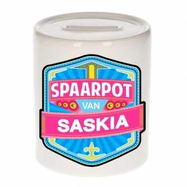 Kinder spaarpot voor saskia