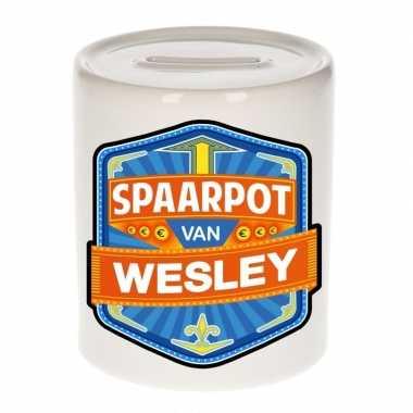 Kinder spaarpot voor wesley