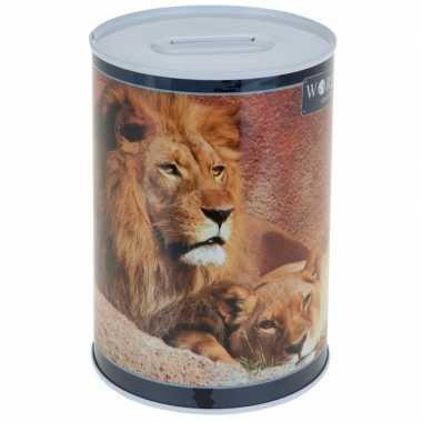 Leeuw spaarpot 15 cm
