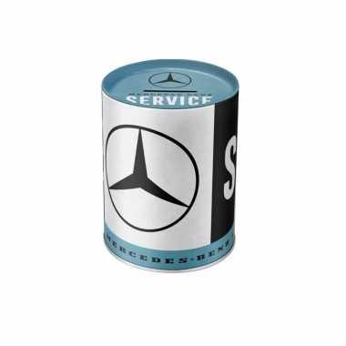 Mercedes-benz service spaarpot zwart 14 x 11 cm