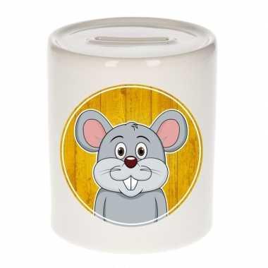 Muizen spaarpot voor kinderen 9 cm