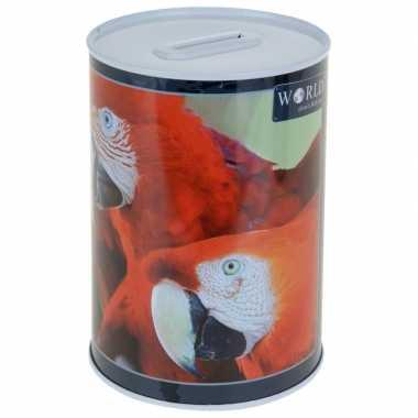 Papegaai spaarpot 15 cm