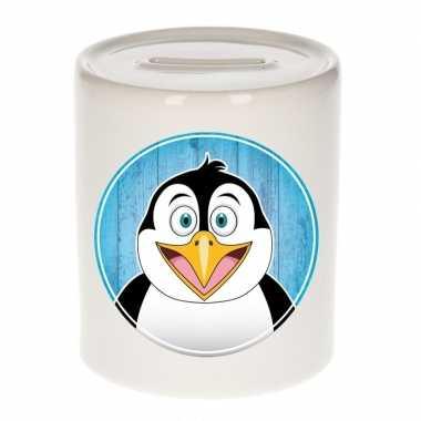 Pinguins spaarpot voor kinderen 9 cm