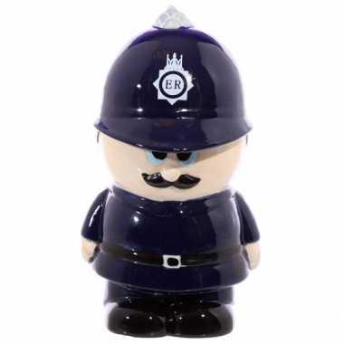 Politieman spaarpot keramiek
