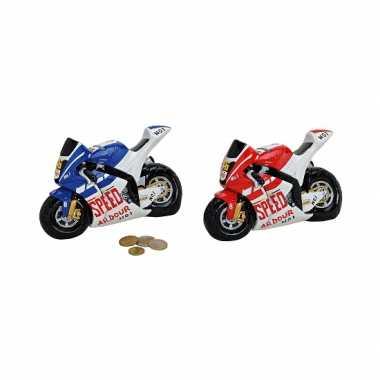 Race motor spaarpot rood
