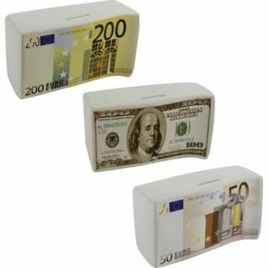 Spaarpot 100 euro biljet 16.5 cm