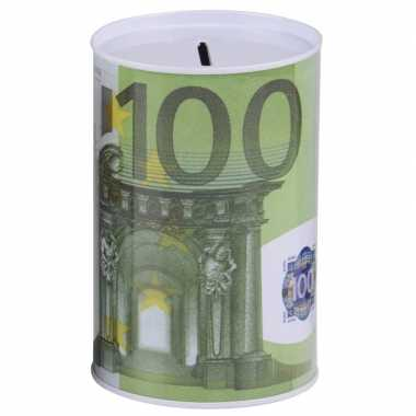 Spaarpot 100 euro biljet 8 x 13 cm