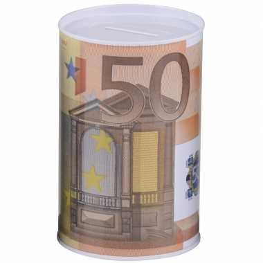 Spaarpot 50 euro biljet 10 x 15 cm
