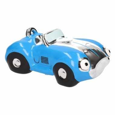 Spaarpot blauwe sportauto cabriolet 14 cm