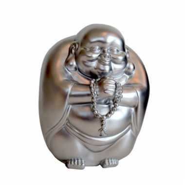 Spaarpot boeddha zilver