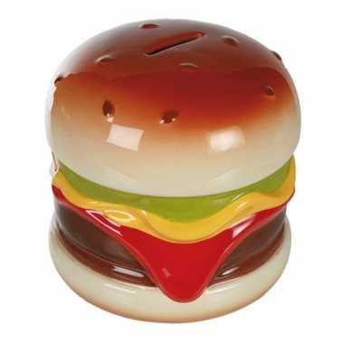 Spaarpot hamburger 14 cm
