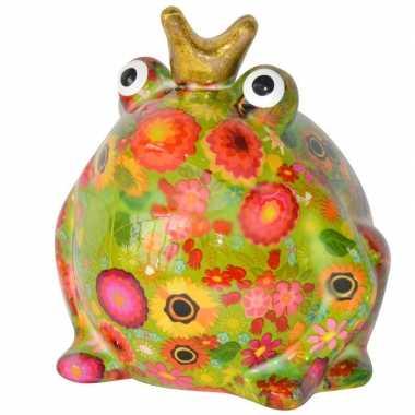 Spaarpot kikker met kroontje groen 16 cm