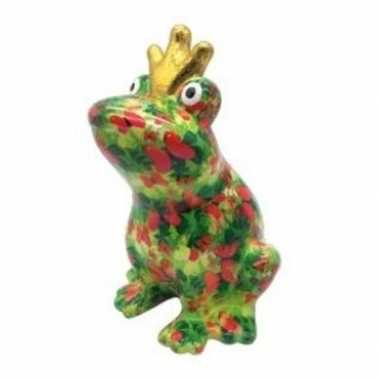 Spaarpot kikker met kroontje groen 22 cm