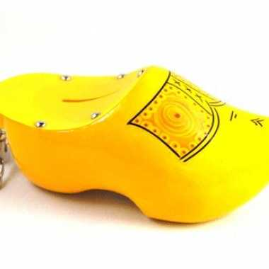 Spaarpot klomp geel 16 cm