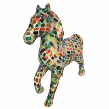 Spaarpot paard 21 cm multicolor