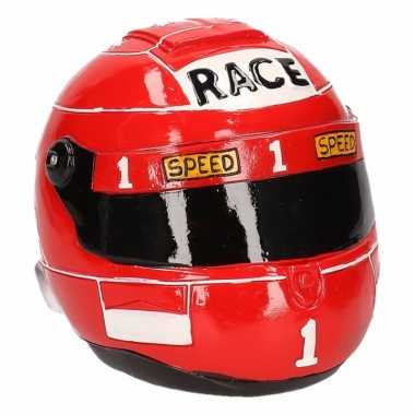 Spaarpot rode race helm
