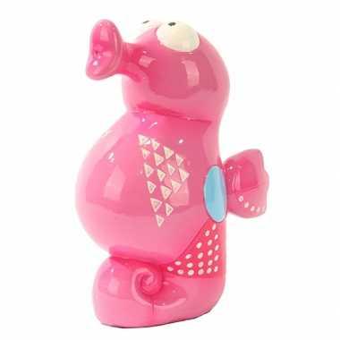 Spaarpot roze zeepaardje