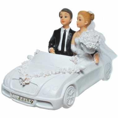 Spaarpot trouwauto met bruidspaar
