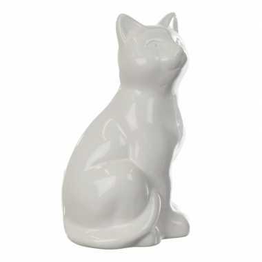 Spaarpot witte kat 20 cm