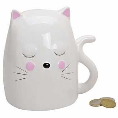 Spaarpot witte kat / poes