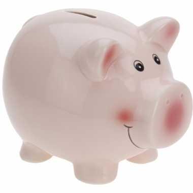 Spaarvarken roze 14 cm