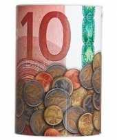 Geld spaarpot 10 euro biljet 10 x 15 cm