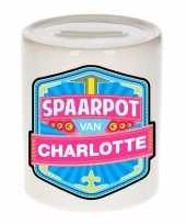 Kinder spaarpot voor charlotte