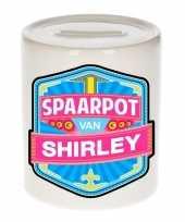 Kinder spaarpot voor shirley