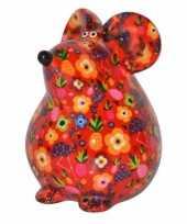 Spaarpot muis 17 cm rood type 1